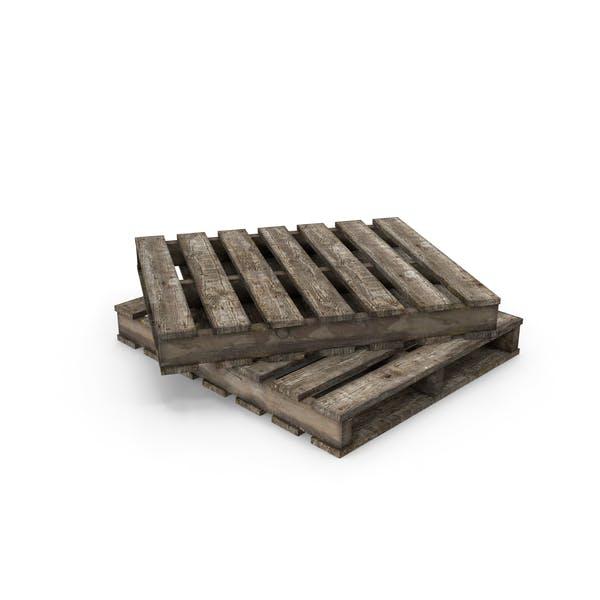 Старый деревянный поддон