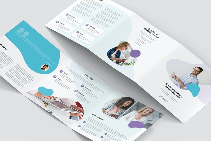 Thumbnail for Brochure – StartUp Agency Tri-Fold Square