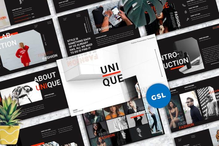 Thumbnail for Einzigartig - Mode Googleslide Vorlagen