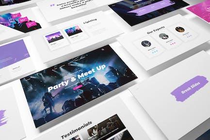 Шаблон Powerpoint для вечеринок и встреч