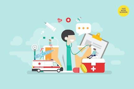 Online Doctor Consultation Vector Concept