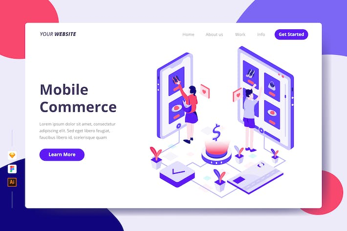 Thumbnail for Mobile Commerce - Landing Page