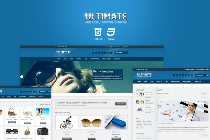 Thumbnail for Ultimate - Responsive HTML Template
