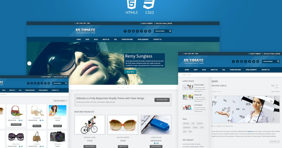 Download Ultimate - Responsive HTML Template by designthemes