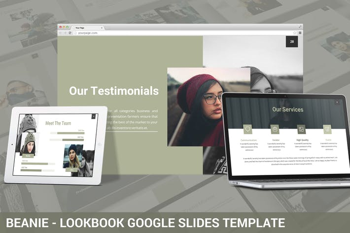 Thumbnail for Beanie - Lookbook Google Slides Template