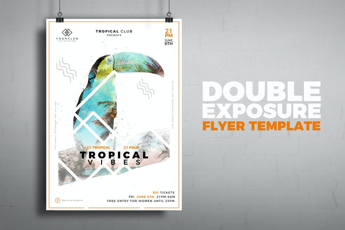 Thumbnail for Tropical Double Exposure Poster