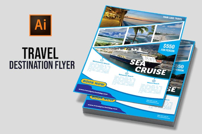 Thumbnail for Travel Destination Flyer vol 3
