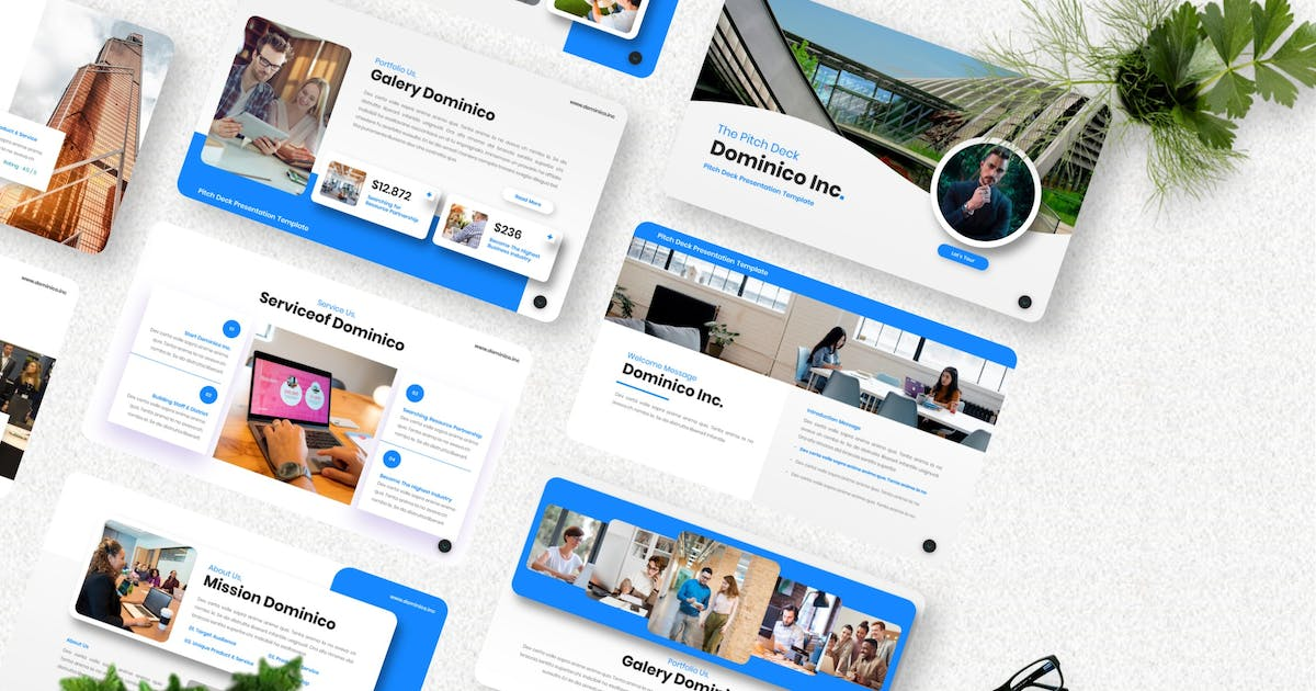 Download Dominico - Pitch Deck Keynote Template by Yumnacreative