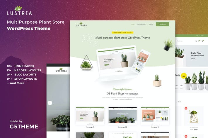 Thumbnail for Lustria - MultiPurpose Plant Store WordPress Theme