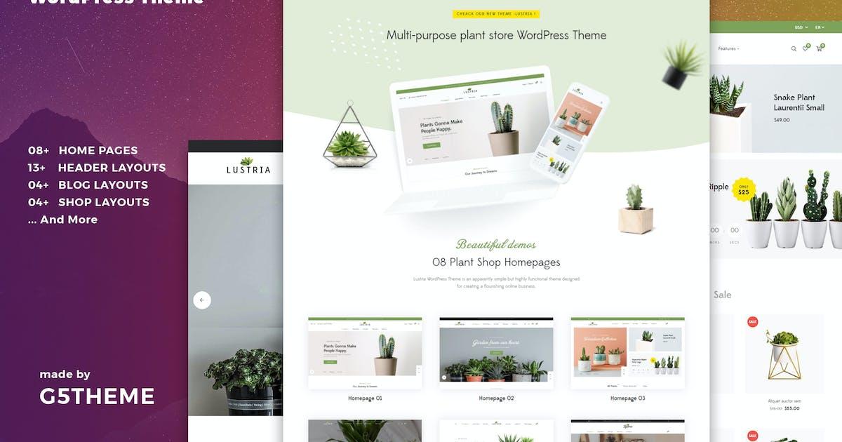 Download Lustria - MultiPurpose Plant Store WordPress Theme by G5Theme