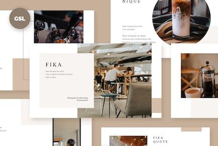 Coffee Shop Presentation Google Slides Template