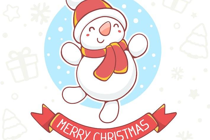 Thumbnail for Snowman, Santa Claus and Christmas reindeer