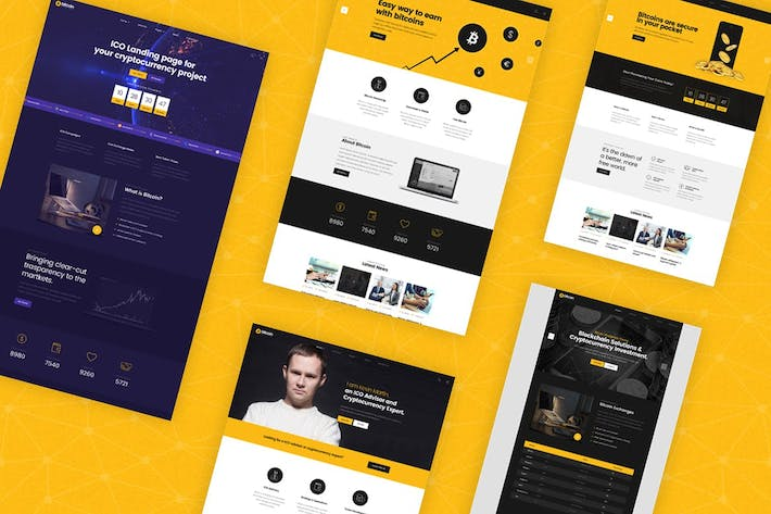 Thumbnail for Bitcoin - ICO and Cryptocurrency PSD Template