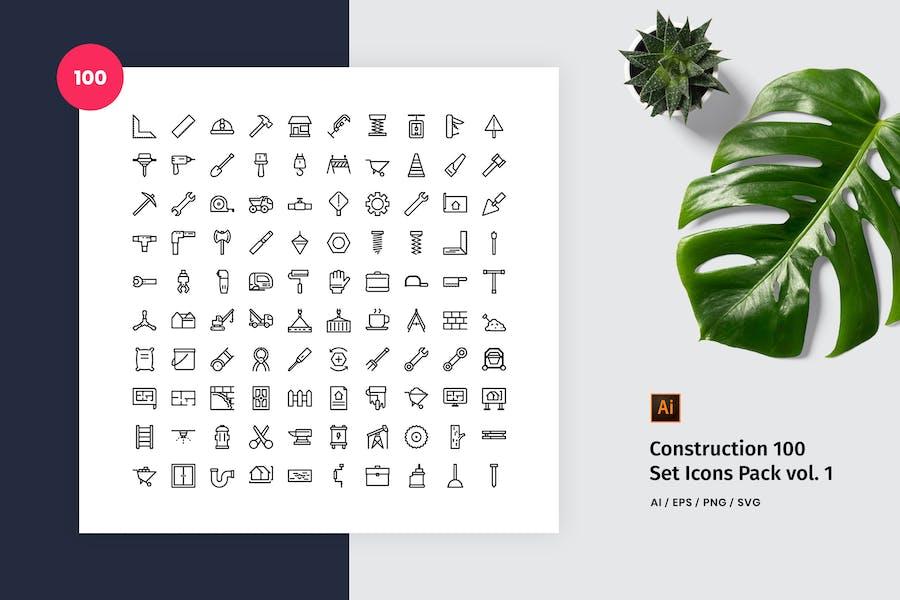 Construction 100 Set Icon Pack Vol. 1