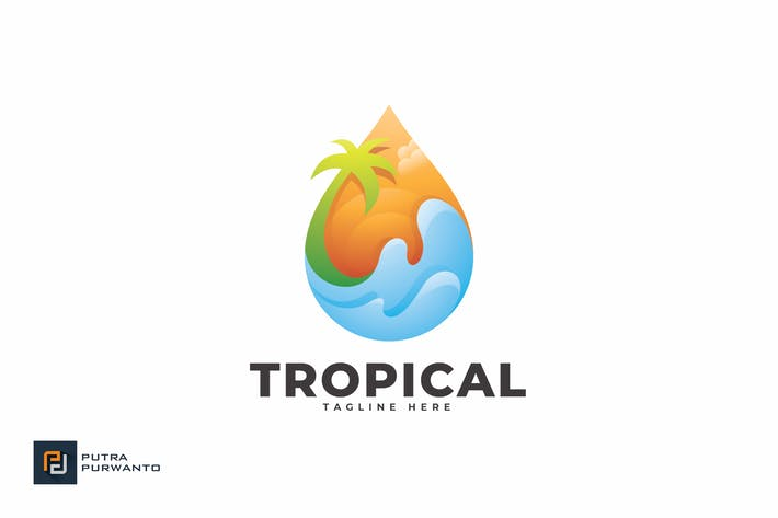 Cover Image For Tropical - Logo Template