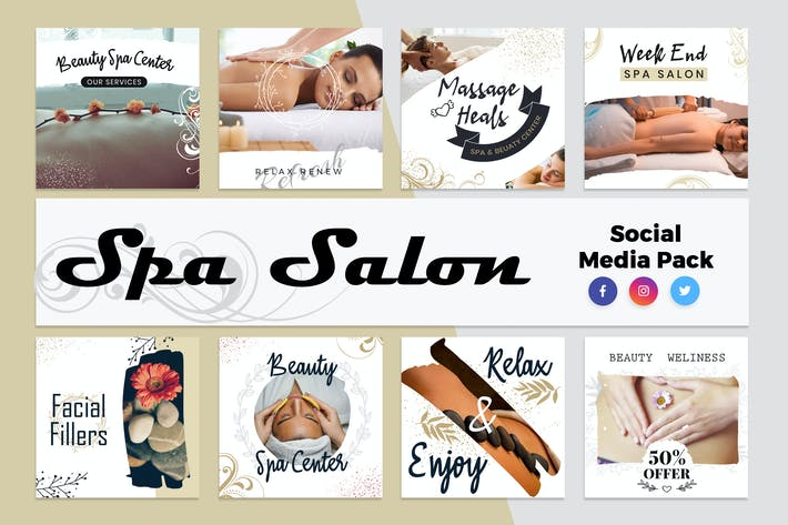 Thumbnail for Spa & Salon Social Media Template
