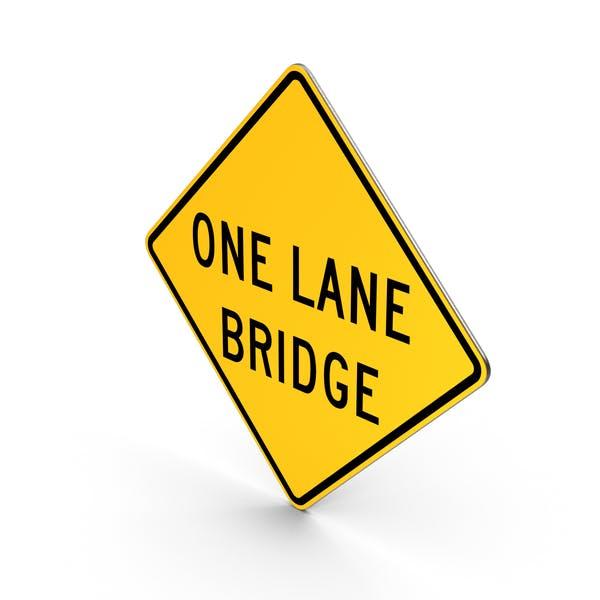 One Lane Bridge Schild