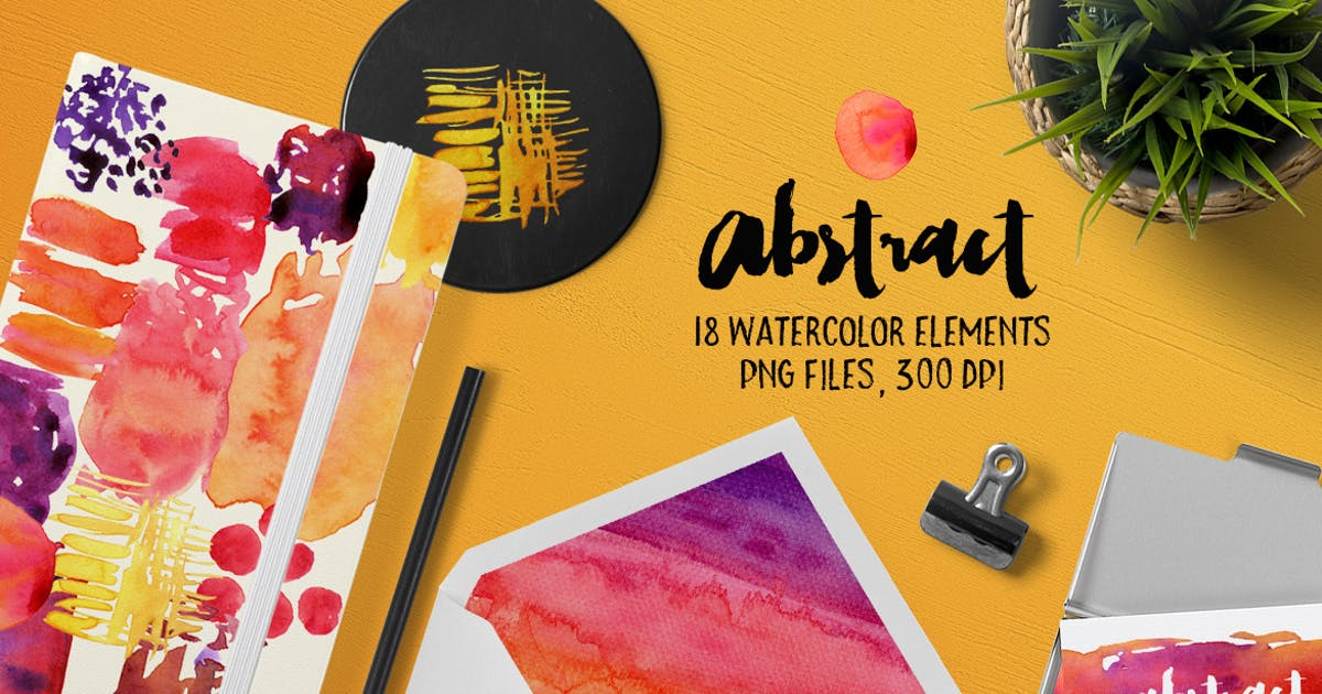 Abstract Watercolour by Unknow