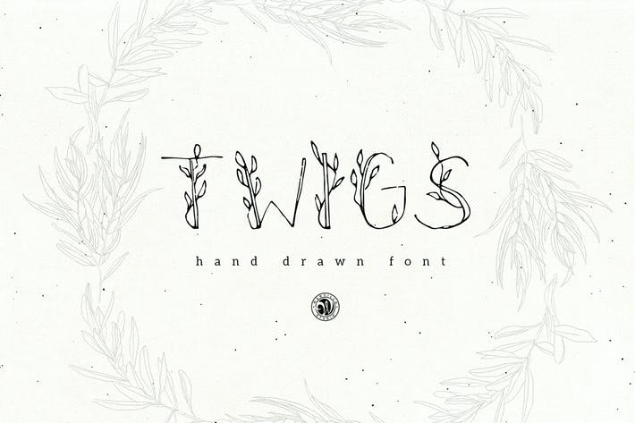 Thumbnail for Twigs Font