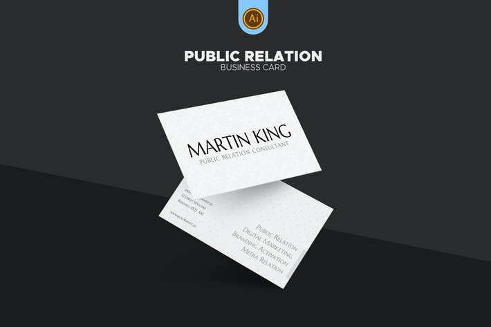 Thumbnail for PR Marketing Business Card 07