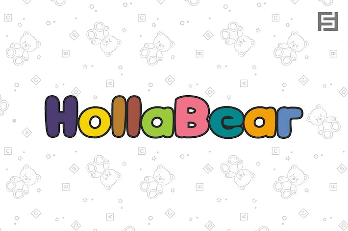 Thumbnail for HollaBear - Cute & Playful Handmade Kids Font