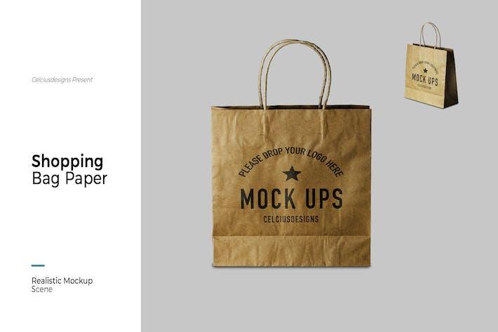 Soping Bag Papier Mock Up