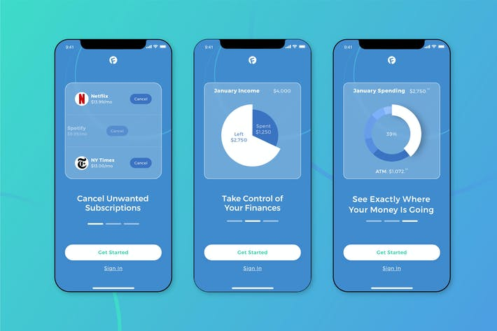 Cover Image For Finance Walkthrough Mobile UI - FD