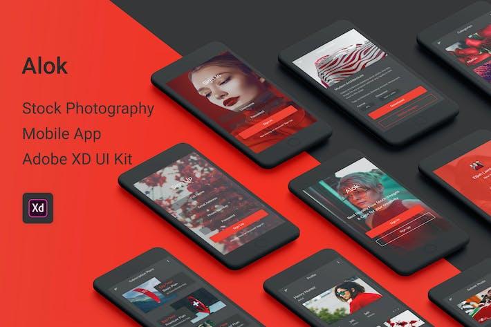 Thumbnail for Alok - Stock Photography Adobe XD UI Kit