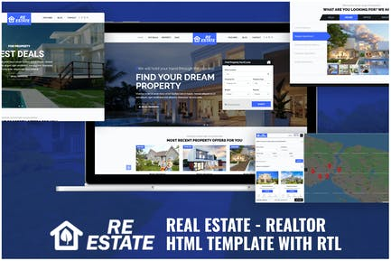 Real Estate - Realtor HTML Template with RTL