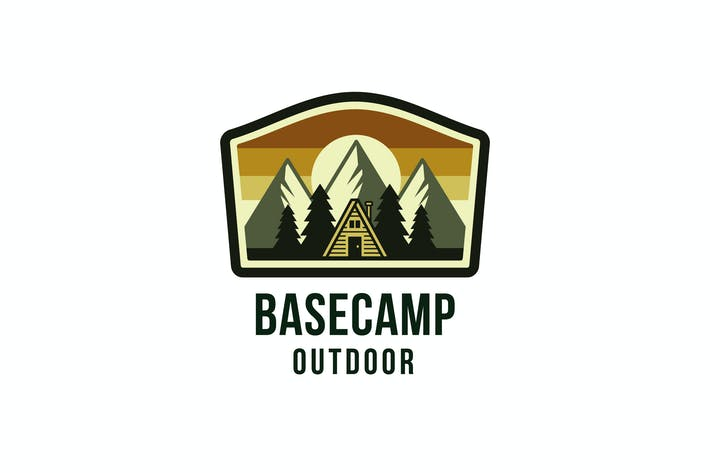 Thumbnail for Basecamp Outdoor Logo Template