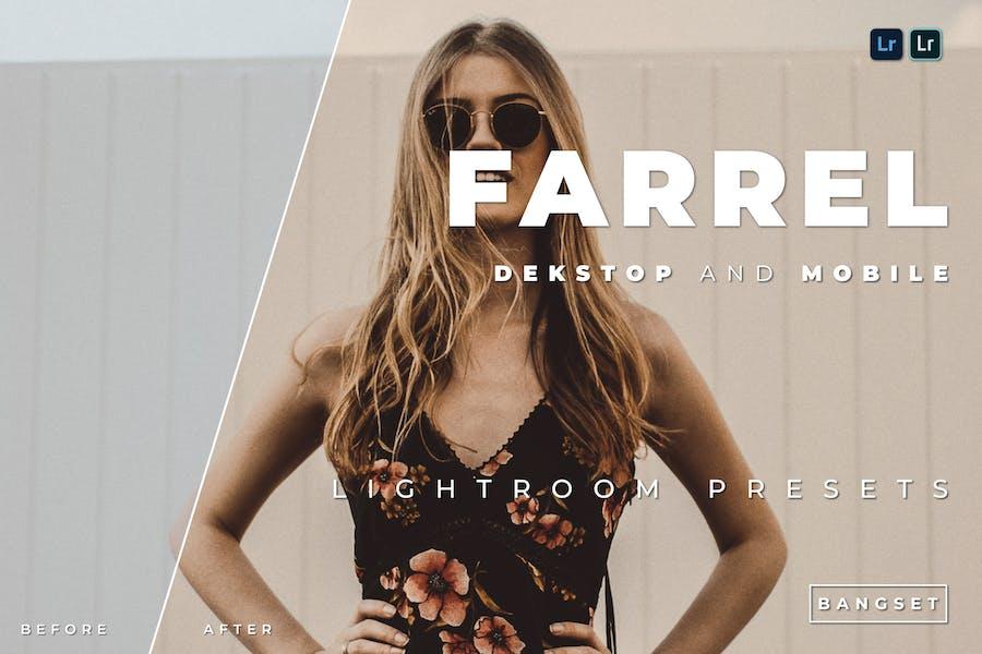 Предустановка Farrel для настольных и мобильных устройств Lightroom