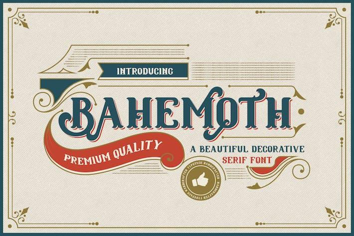 Thumbnail for Bahemoth - Fuente decorativa vintage de Con serifa
