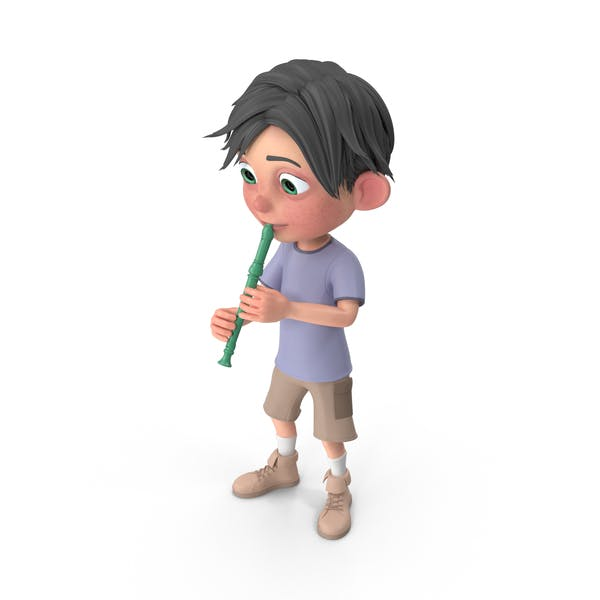 Thumbnail for Cartoon Boy Jack Playing Recorder