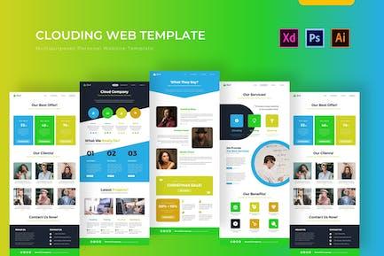 Web Clouding   PSD Web Template
