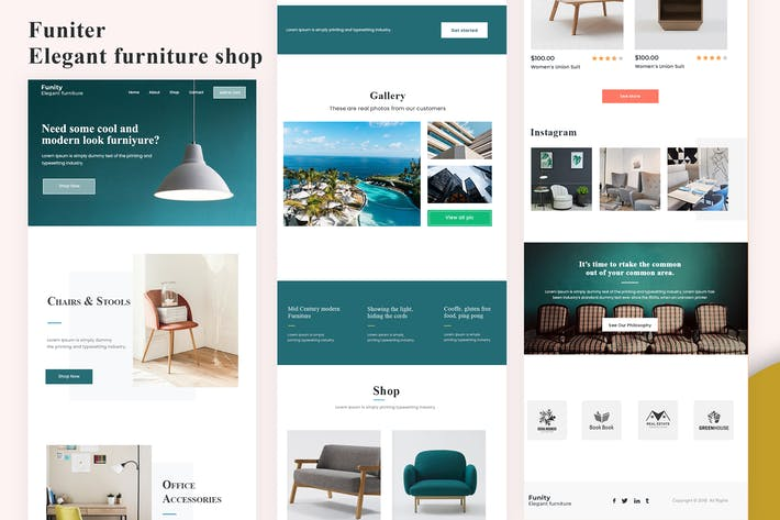 Thumbnail for Funiter - Elegant furniture shop Email Newsletter