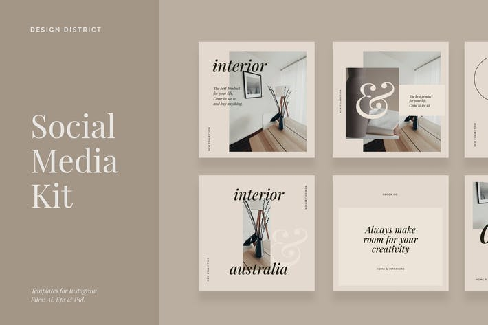 Thumbnail for Interior & Decor - Social Media Kit