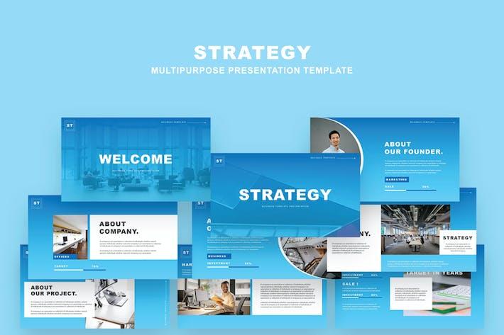 Шаблон стратегии Powerpoint