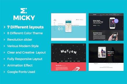Micky - App showcase Template