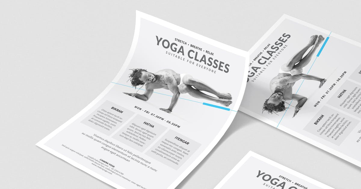 Yoga Classes Poster Flyer By Boxkayu On Envato Elements