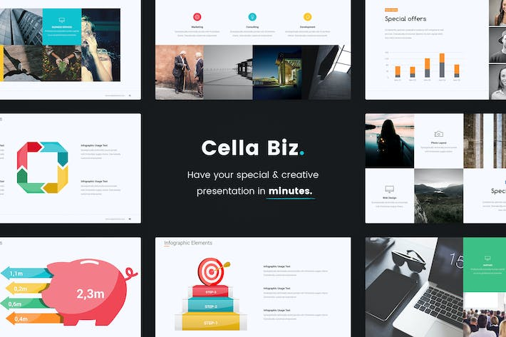 Thumbnail for CELLA - Business & Colored Template (Google0