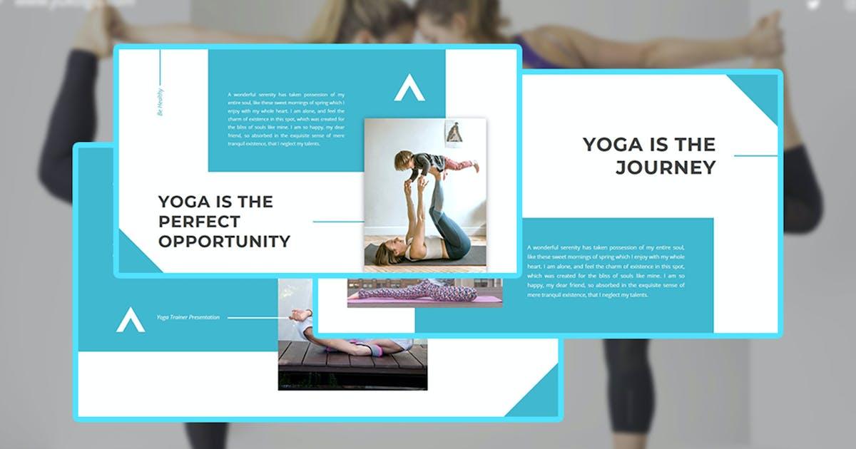 Download Yukolga - Yoga Trainer PowerPoint Template by raseuki