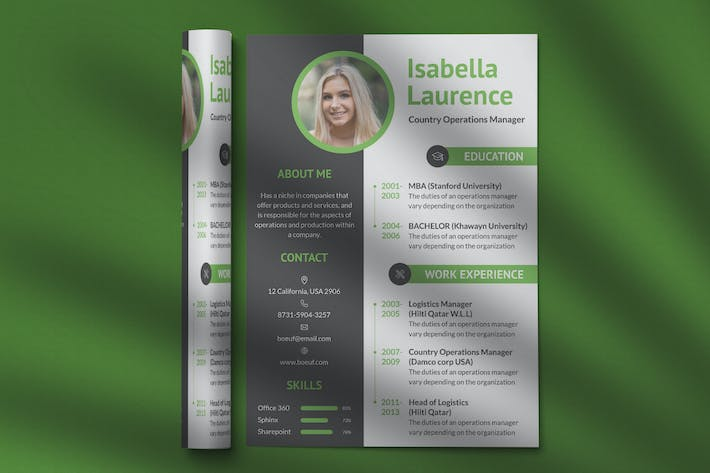 Thumbnail for CV Resume Professional Template Vol. 20