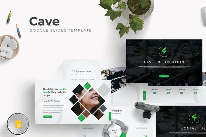Thumbnail for Cave - Google Slide Template