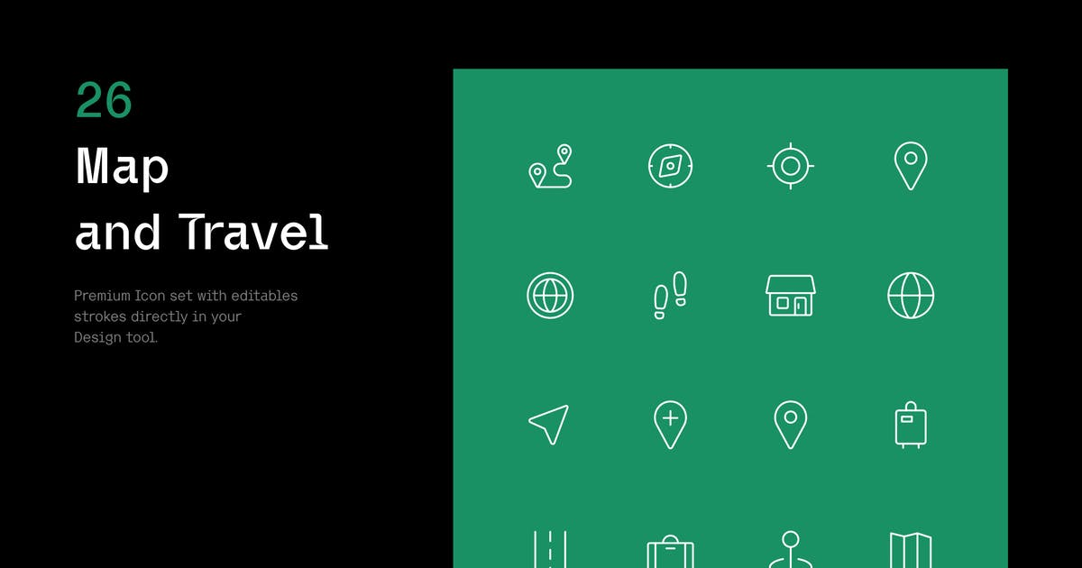 Download Map and Travel - Iconuioo by bilekpetr