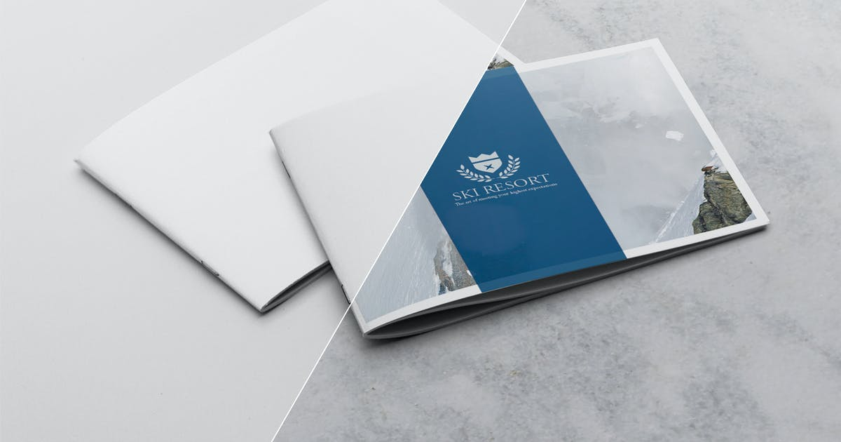 Download 2 Covers Landscape Brochure Mockup by andre28