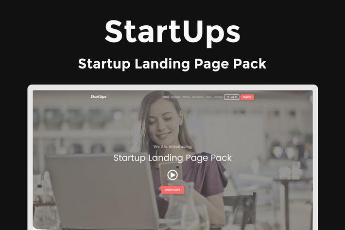 Thumbnail for StartUps - Startup Landing Page