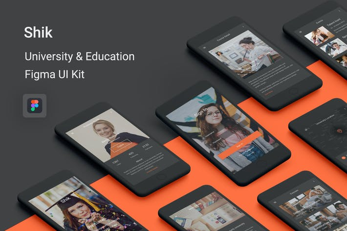 Thumbnail for Shik - University & Education UI Kit for Figma
