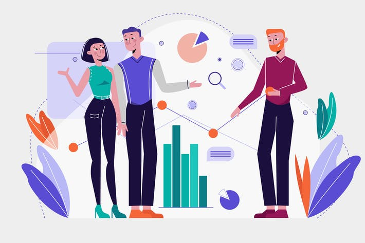 Thumbnail for Business Analytics Vector Illustration