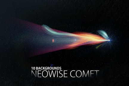 Conjunto de fondo del cometa Neowise