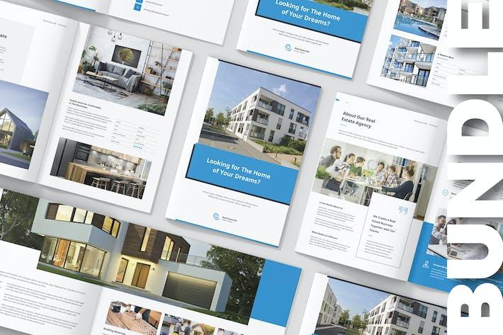 Thumbnail for Real Estate Brochures Bundle Print Templates